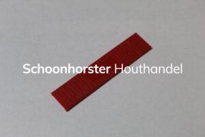 Beglazingsblokje rood 3mm