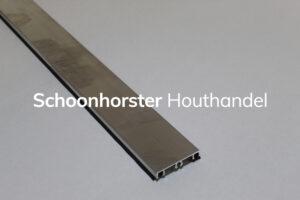 Afdekprofiel aluminium schroefbaar
