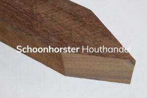 Hardhouten paal gepunt 60x60mm